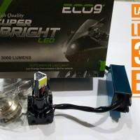 Lampu Depan Motor Led 3Sisi ECO9 Luminos Putih