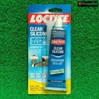 LOCTITE Clear Silicone Waterproof Sealant-Lem Silikon-Silen Kaca 80 ML