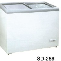 Gea Sd-256 Sliding Flat Glass Freezer / Freezer Kaca Datar