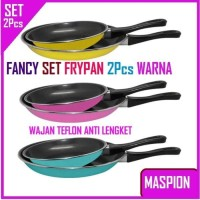Fancy Frypan Set 2in1 18cm dan 23cm / Teflon Warna Murah by Maspion