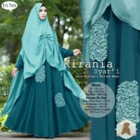 Kirania syari Maxi tosca white peach by EP