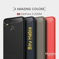 Hybrid Slim Armor Case ZenFone Zoom S Carbon Fiber Texture Brushed