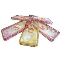 Softcase Flower Swarovski Diamond plus Ring  Karakter Samsung Galaxy J