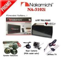 Paket Nakamichi NA-3102i Double Din TV Tape Mobil + Speaker + Camera