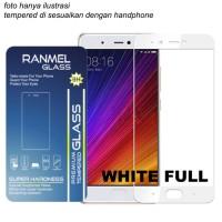 Ranmel Screen Protector/ Vivo V5 / Full White Tempered Glass