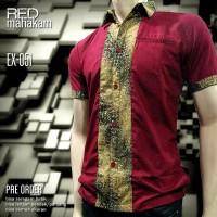 SERAGAM BATIK   Red Mahakam   Batik Kerja   Batik Karyawan EX-051