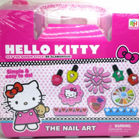 Real Pic Hello Kitty Fashion And Nail Art Koper - Mainan Menghias Kuku