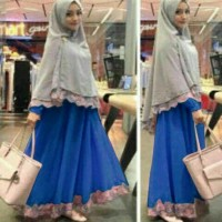Baju pakaian Wanita Muslim Fashion  Syari Bergo Safira Benhur