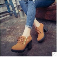 Jual Sepatu Murah Boots Heels Tan Gesper BT02 Murah