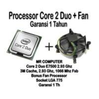PROCESSOR INTEL CORE2 DUO E7500 + FAN (Proc Core 2 duo 2.93 Ghz)