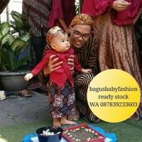 Beskap Bayi Kostum Jawa Untuk Mudun Lemah Tedak Siten Halus Murah