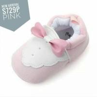 PW70 - prewalker tuxedo pink baby shoes sepatu anak bayi cewek girl