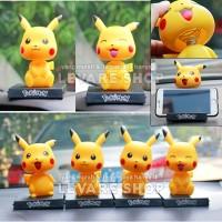 Aksesoris Boneka Per Dashboard Mobil - Kepala Goyang Pokemon Pikachu