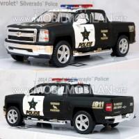 Kinsmart Chevrolet Silverado 2014 Police Diecast Miniatur Mobil Mainan