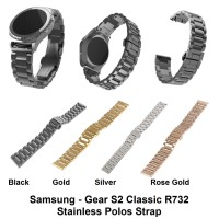 Jual Samsung Gear S2 Classic R732 - Strap Stainless Steel Polos Tali Band Murah