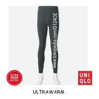 CELANA LONGJOHN PRIA UNIQLO HEATTECH UltraWarm Tights 400231 DARK GREY