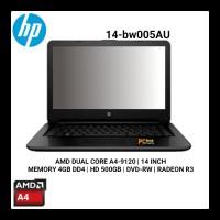 Laptop HP 14-BW005AU Black AMD A4-9120 4GB 500GB DVDRW 14 Inch DOS