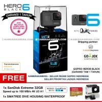 GoPro Hero6 Black (Resmi) + SanDisk Extreme 32gb +Smatree Dive Housing