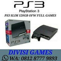 PS3 Slim 120Gb OFW/PSN + OPTIC