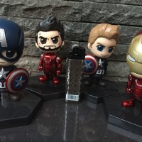 Action Figure Cosbaby Civil War Captain America Iron Man Ironman Chibi