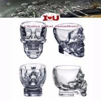 Terlaris Crystal Skull Head Vodka Whiskey Shot Glass