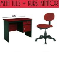 Harga set meja kerja komputer uk 120 cm | Pembandingharga.com