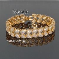 Gelang emas tetesan air permata PZG15008