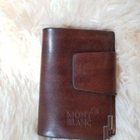 Dompet Kartu Kredit/wallet Atm/nama Kulit Mont Blanc