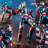 HOT TOYS IRON PATRIOT DIECAST NEW MISB!! IRONMAN 3 MMS195 figure