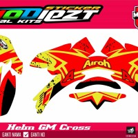 DECAL HELM GM CROSS AIROH