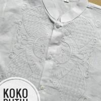baju anak (9T) Baju Muslim Koko Anak SD Putih Bahan Katun 9 Tahun