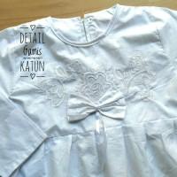 baju anak (4/5/6T) Baju Muslim Gamis Anak TK Putih Bahan Katun 4 5 6