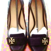 TORY BURCH 100% Ori sepatu kerja wanita wedges import warna Hitam