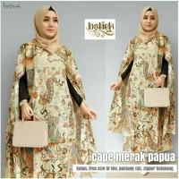 Dress Batik Solo. Cape Batik Merak Papua Series