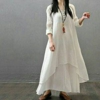 Longdress Nikita Mirzani White VW70