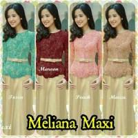 Meliana Maxi Dress Kebaya Modern bisa untuk wisuda Fit to L