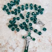 Jual Rosario kristal hijau emerald Murah