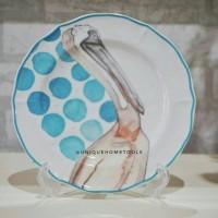 Piring Kue / Salad Plate burung pelikan uk.21cm