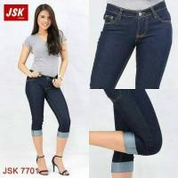 Jual Celana Pendek Jeans Wanita Pensil Big Size Skinny 7/8 Jumbo Cewek Murah