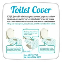 hypee Toilet cover murah waterproof antislip alas wc untuk travelling