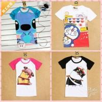 baju kaos tshirt anak abg remaja doraemon one piece lilo stitch