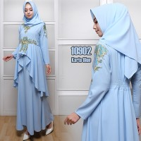 Harga realpict karla2 gamis maxi dress longdress hijabers baju | Pembandingharga.com