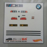 Decal set Hotwheels BMW M3 E36