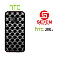 Casing HP HTC One M9 black white channel Custom Hardcase