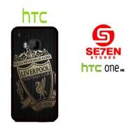 Casing HP HTC One M9 gold liverpool logo Custom Hardcase