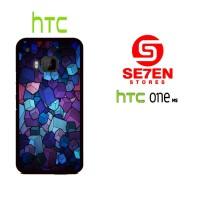 Casing HP HTC One M9 cube wallpaper custom Custom Hardcase
