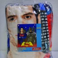 Jual Selimut Super Lembut dan Tebal Merk Bonita 3D New - BATMAN VS SUPERMAN Murah