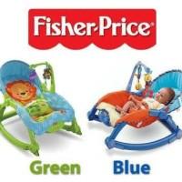 Fisher Price Bouncer Newborn to Toddler Portable Rocker blue, green