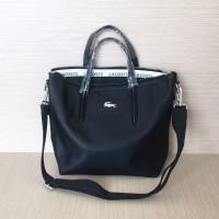 Promo Tas Wanita Lacoste Zip Tote Bag Basic Mini Best Seller