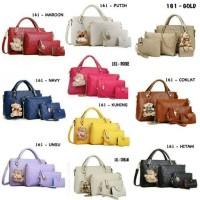 Jual PROMO TURUN HARGA Tas Bag Impor Wanita Korea 4in1 / Handbag Teddy bear Murah